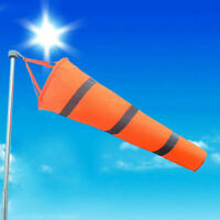 "80cm Airport Windsock 30"" Long Outdoor Wind SOCK w/ Belts Grommet Reflectiv G5O5"