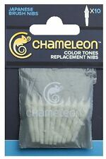 CHAMELEON MARKER REPLACEMENT NIBS - BRUSH NIBS - PACK OF 10