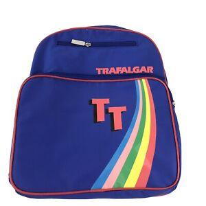Trafalgar 70s / 80s Style Blue Rainbow single strap Travel Bag -