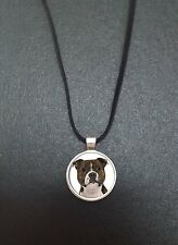 """Staffie Terrier Pendant On a 18"""" Black Cord Necklace Ideal Birthday Gift N68"""