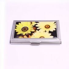 ID Case Yellow Flowers Stainless Steel from Casa D'oro Money Holder Wallet daisy