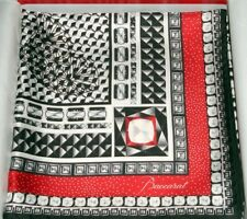 Baccarat Scarf Silk NEW Louxor Twill BLACK WHITE RED 39sq in 2809043 Mint in Box