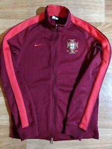 Nike PORTUGAL National Team N98 Track Jacket Football Soccer Sweatshirt Burgundy