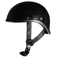 Gloss Black Gladiator Novelty Motorcycle Half Helmet Harley Cap S M L XL 2XL