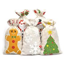 Burlap Jute Hessian Wedding Favor Bags Large Christmas Gift Bag Decorations 2019