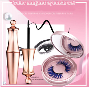 3D magnetic color lashes eyeliner and eyelashes extension waterproof makeup set