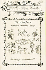 M305 Life on the Farm for Kitchen Towels Embroidery hot iron-on transfers