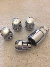 1/2 UNF ALLOY WHEELS LOCKING NUTS + KEY FITS ASTON MARTIN BENTLEY DODGE MODELS