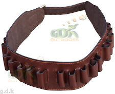 GDK custode leather cartridge belt, waiste, marrone scuro Guardian, FUCILE, proiettili