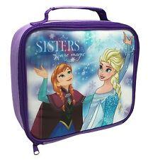 Disney Frozen Lunch Bag Kids Insulated Packed School Dinner Case Purple Elsa