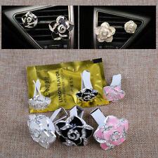 2 Pcs Rhinestone Flower Shape with Clip Car Air Diffuser Vent Perfume Freshener