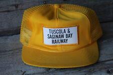 Vintage Tuscola & Saginaw Bay Railway Railroad Trucker Hat Snapback Cap Patch