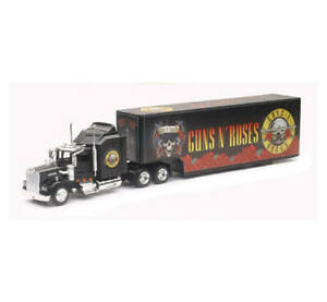 New Ray 1/43 Kenworth W900 with GUNS N ROSES Design Truck Trailer Black SS-15443