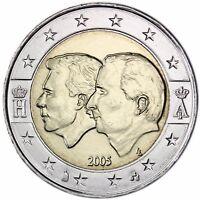 Belgien 2 Euro Münze Wirtschaftsunion mit Luxemburg Henri & Albert 2005 bfr