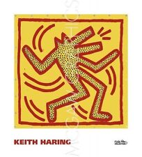 POP ART PRINT Untitled, 1982 (red dog on yellow) Keith Haring 16x16