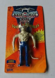 Biker Mice From Mars - Super Bendables - Vinnie Figure By Gallob in 1993