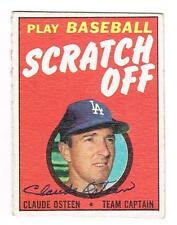 1971 Topps Baseball CLAUDE OSTEEN autographed L.A. DODGERS Scratch Off card