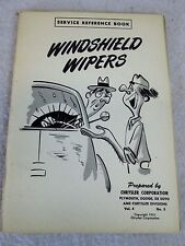 Vintage 1951 Windshield Wiper service reference book Chrysler Mopar