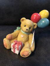 "Cherished Teddies Nina w/ Balloons Bear Figurine ""Beary Happy Wishes� #215864"