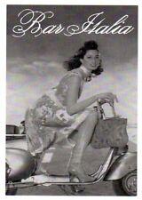 Bar Italia - Donna su Vespa Piaggio - cartolina pubblicitaria