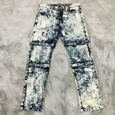 New Rebel Minds Embroidered Strap Jeans Mens Size 32 x 32 Bleached MSRP $120.00
