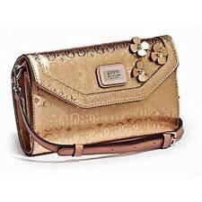 BNWT GUESS Britton Gold Crossbody Floral Logo Wallet Clutch Purse Bag Handbag