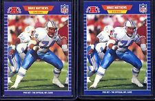Bruce Matthews Rookie (2) 1989 Pro Set #148 HOF  Houston Oilers