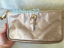 $290 NEW LONGCHAMP LM Cuir Metallic Bronze Leather Small Shoulder Clutch FRANCE
