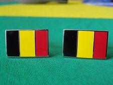 Belgian Antwerp Brussels Belgium Flag Cufflinks-Europe European