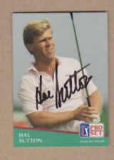 Hal Sutton signed 1991 Pro Set golf card # 132