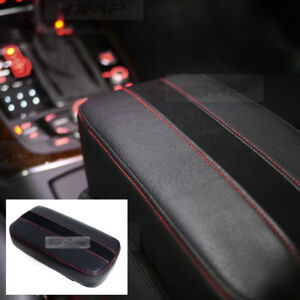 Sports Center Console Line Armrest Cushion Suede Black Accessory For PANOZ Car