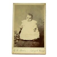 Antique Cabinet Card Photograph Beautiful Baby Girl Angels Camp, California