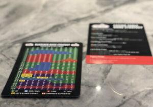 "Large Never Split 10's Blackjack + Casino Table Game Strategy Plastic Card 5""x7"""