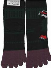 Nagomi Japanese Geisha 5 Toe Socks Black Green Purple Kimono Ankle Women Sz 8-11