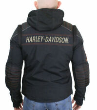 Harley-Davidson Mens B&S Sully 3-In-1 Convertible Mesh Black Jacket 98176-17VM