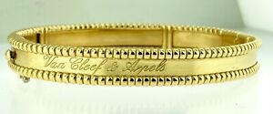 VAN CLEEF & ARPELS~ PERLEE 18kt Yellow Gold Signature Bracelet Medium Size w/Box