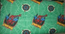 New! SPIDERMAN Green Blanket/Throw Web Superhero Kids Homemade