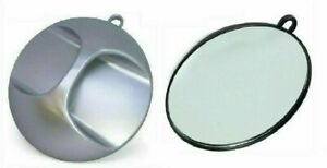 Hand Held Round Mirror Back Prof Barber Salon Hair Hairdresser Beauty Silver UK