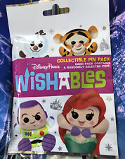 Disney Parks Wishables Mystery Wishable Pin Pouch Pack 5 Pins Sealed New Bag