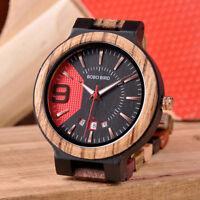 BOBO BIRD Colorful Luxury Wooden Watch Men Timepieces Fashion Wood Strap Date