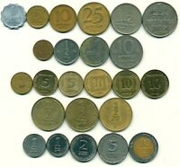 ISRAEL: Lot 1961 .. 2008 ● 24 diverse Münzen ● Agora Agorot Sheqel Sheqalim
