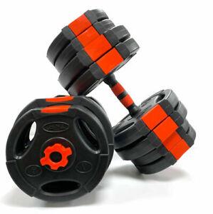 Tri Grip Dumbbell Set 30KG Adjustable Dumbbells Sets Weights Gym Weight Bar Bars