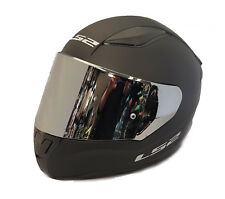 LS2 FF353 RAPID FULL FACE MOTORCYCLE HELMET MATT BLACK WITH CHROME MIRROR VISOR
