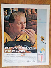 1961 Tareyton Cigarette Ad  Hockey Game Player Theme