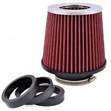 150mm Auto Sportluftfilter Rot mit Chrom Top PKW Luftfilter Konisch Neu OVP für