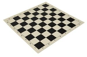 """20"""" Vinyl Chess Board – Meets Tournament Standards - Black - 2.25 Inch Squares"""