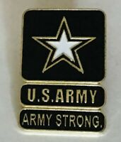US Army Strong United States Military Star Pin Badge Rare Vintage (N2)
