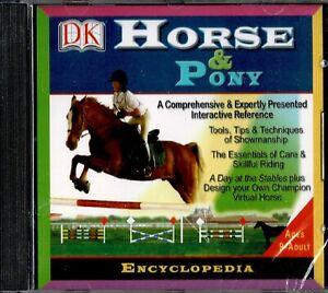 DK Horse & Pony Encyclopedia Pc New Vista XP Showmanship Leisure Horse Care