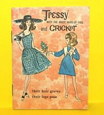 Vintage 1960's Tressy With The Magic Makeup Face And Cricket Fashion Booklet