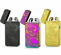 Rechargeable Electric LIGHTER Double ARC PULSE Flameless Plasma Clipper USB